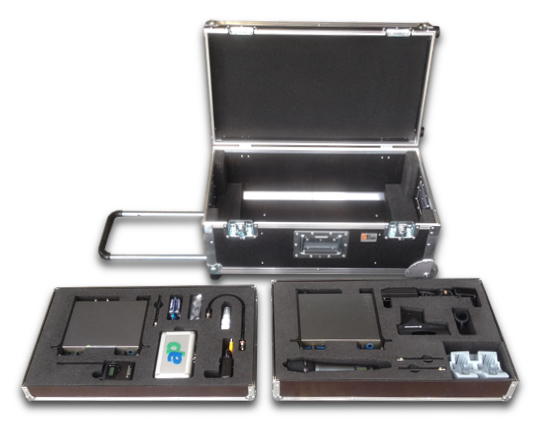 Funkmik - In Ear Koffer Trolley Flightcase offen