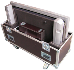 Flightcase f�r LCD Flat Panel Flachbildschirm