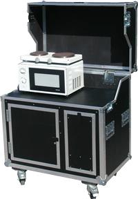 kitcase - die schrank- oder koffer-küche für den mobilen einsatz - Messe Küche